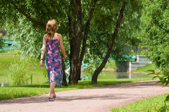 Walk in park Stock Photography