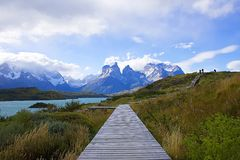 A walk in patagonia Stock Photo