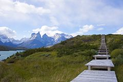 A walk in patagonia. An image of a walk in Patagonia showing the beauty of the natural landscape Royalty Free Stock Photography