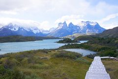A walk in patagonia. An image of a walk in Patagonia showing the beauty of the natural landscape Stock Photo