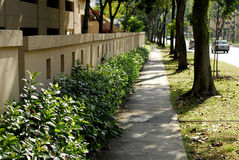 Walk path. A walk path in the city stock photography