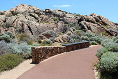 Walk path   at Canal Rocks west Australia Stock Image