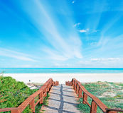 Walk path and clouds Royalty Free Stock Images