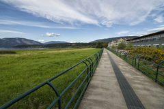 Walk path by the lake in Salmon arm Royalty Free Stock Photo