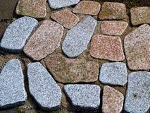 Walk path made of stones Stock Photos