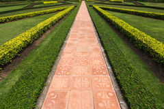 Walk path in the park Royalty Free Stock Photo