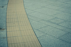 walk pathway especially for the blind person Royalty Free Stock Images