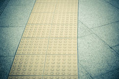walk pathway especially for the blind person Royalty Free Stock Photography