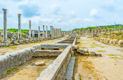 Daily walk in Perge Stock Photo