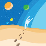 Walk on planet Royalty Free Stock Image
