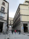 Walk through the Plaza Mayor of Madrid Spain Europe. Walk through the  Plaza Mayor of Madrid Spain Europe Royalty Free Stock Photos