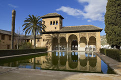 Walk of the Princesses in Partal zone. Partal zone. Walk of the Princesses. Alhambra in Granada, Spain Stock Photos