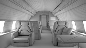 Walk through private plane interior