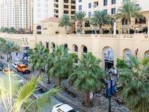 The Walk Promenade in Dubai Marina Royalty Free Stock Image