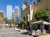 The Walk Promenade in Dubai Marina Royalty Free Stock Photography