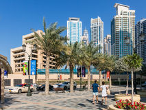 The Walk Promenade in Dubai Marina Royalty Free Stock Photos