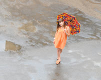 Walk in the rain Royalty Free Stock Photo