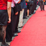 Walk the red carpet Stock Photo