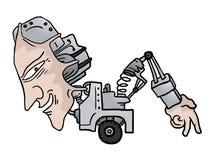 Walk robot Stock Image