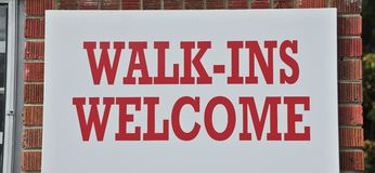 Walk In`s Welcome Stock Images