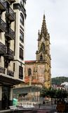 Walk through San Sebastian or Donostia in the Basque country in Spain. San Sebastian is a coastal city royalty free stock photos