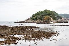 Walk through San Sebastian or Donostia in the Basque country in Spain. San Sebastian is a coastal city stock photography