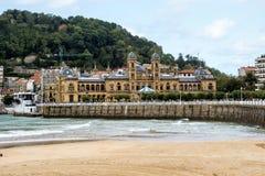 Walk through San Sebastian or Donostia in the Basque country in Spain. San Sebastian is a coastal city stock photos