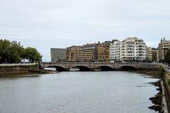 Walk through San Sebastian or Donostia in the Basque country in Spain. San Sebastian is a coastal city stock images