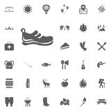 Walk shoes icon. Camping and outdoor recreation icons set.  Royalty Free Stock Images