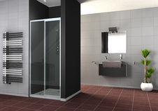 Walk-in shower Royalty Free Stock Photography