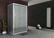 Walk-in shower Stock Photo