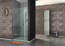 Walk-in shower Stock Photography