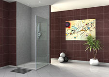 Walk-in shower Stock Photos