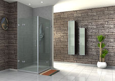 Walk-in shower Royalty Free Stock Images