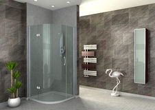 Walk-in shower Royalty Free Stock Photos