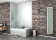 Walk-in shower Royalty Free Stock Image