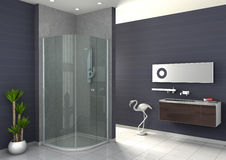 Walk-in shower Royalty Free Stock Photo