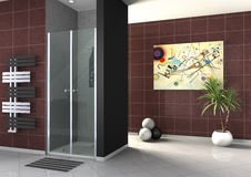 Walk-in shower Stock Images
