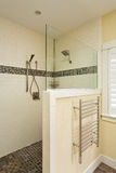 Walk in shower of an upscale home royalty free stock images