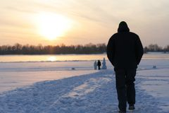 Walk in Siberia Stock Photo