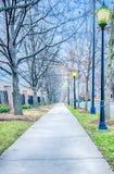 A walk on a sidewalk street Royalty Free Stock Photos