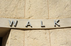 Walk Sign Stock Images
