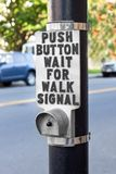 Walk Signal Button Stock Image