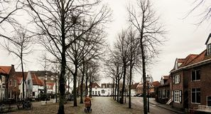 Walk in the silent. Harderwijk is on silent mode Stock Photo