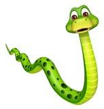 Walk  Snake cartoon character Royalty Free Stock Photography