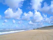 Walk on a stormy beach Royalty Free Stock Photo