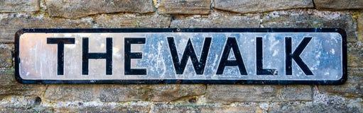 The Walk street sign. United Kingdom stock photos
