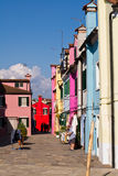 Walk the streets of Burano Stock Image