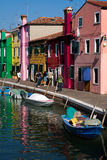 Walk the streets of colorful Burano , Italy Stock Photo