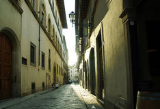 Walk on streets of Florence. City landscape Stock Image